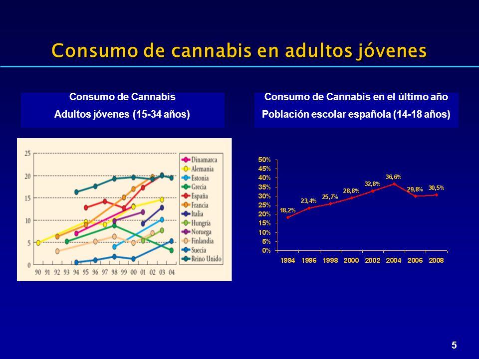 Consumo de cannabis en adultos jóvenes