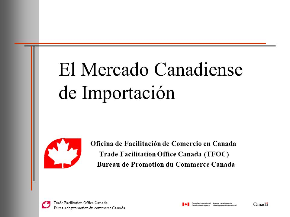 El Mercado Canadiense de Importación