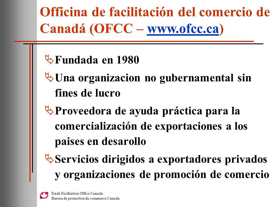 Officina de facilitación del comercio de Canadá (OFCC – www.ofcc.ca)