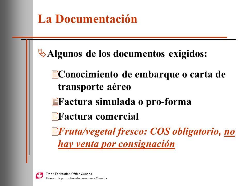 La Documentación Algunos de los documentos exigidos:
