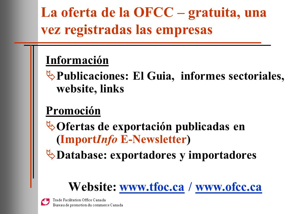 Website: www.tfoc.ca / www.ofcc.ca