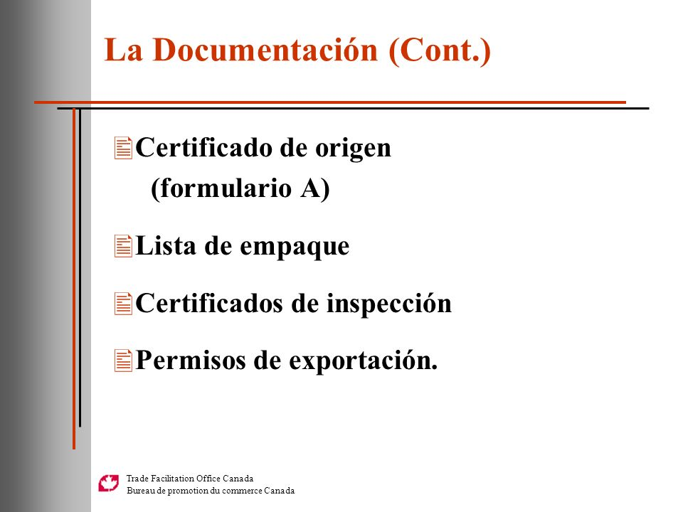La Documentación (Cont.)