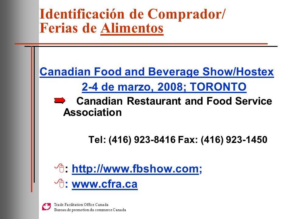 Identificación de Comprador/ Ferias de Alimentos