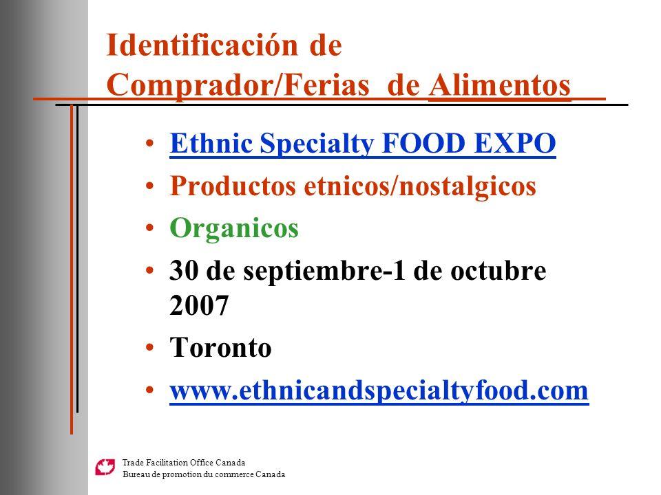Identificación de Comprador/Ferias de Alimentos
