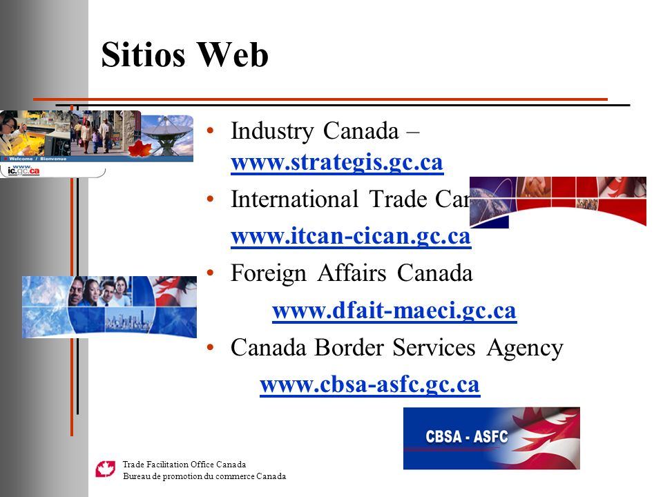 Sitios Web Industry Canada – www.strategis.gc.ca