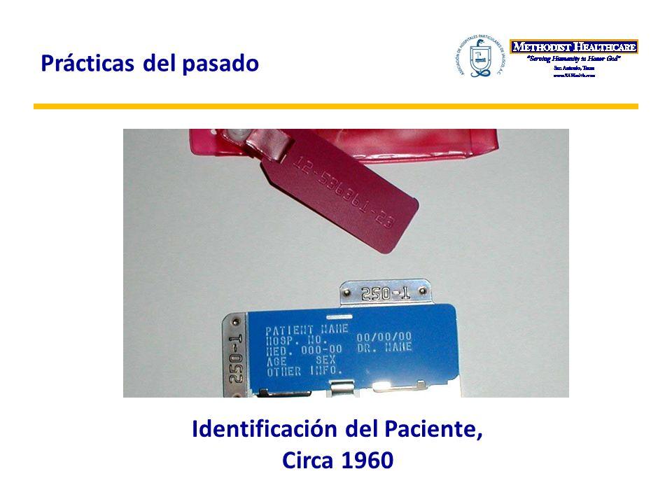 Identificación del Paciente, Circa 1960