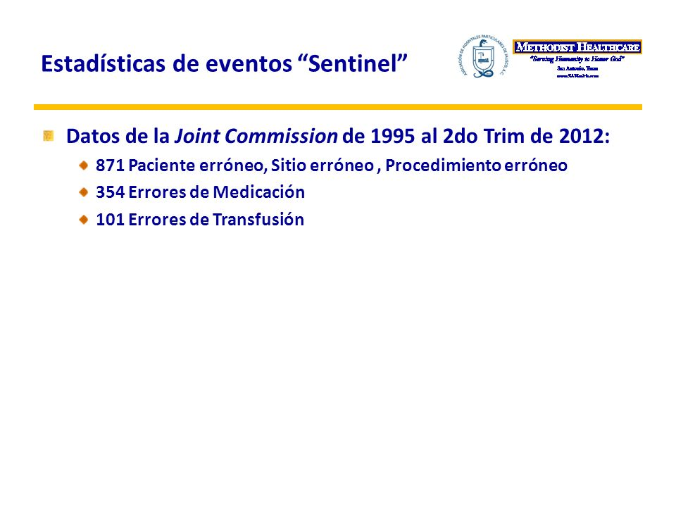 Estadísticas de eventos Sentinel