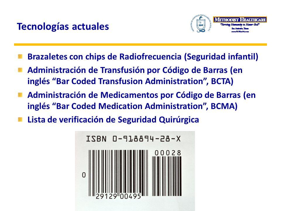 Tecnologías actuales Brazaletes con chips de Radiofrecuencia (Seguridad infantil)