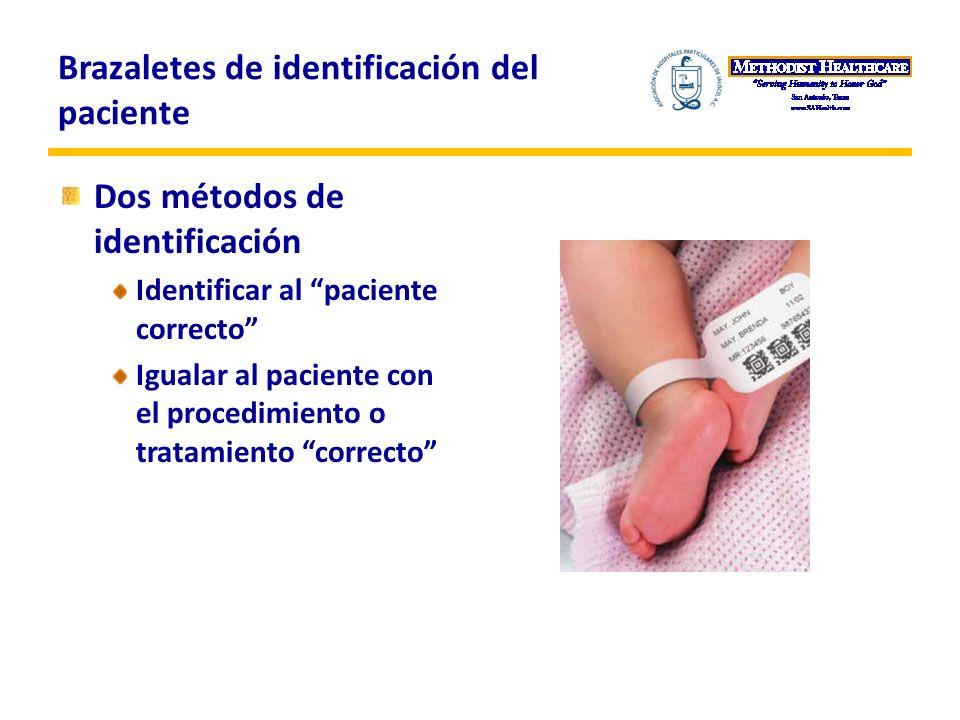 Brazaletes de identificación del paciente