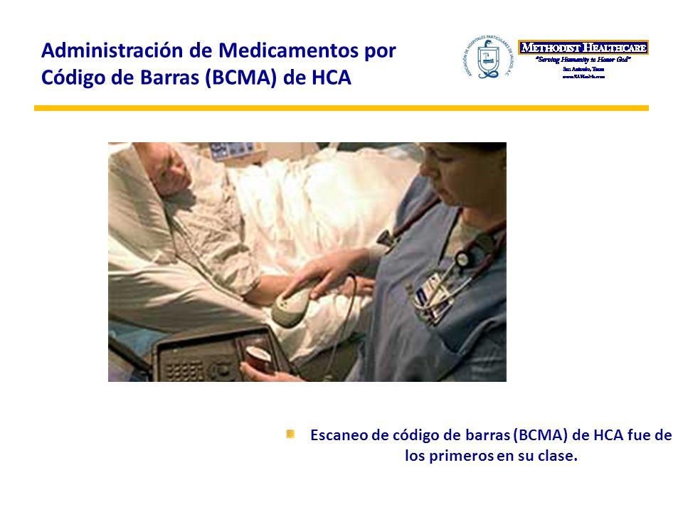 Administración de Medicamentos por Código de Barras (BCMA) de HCA