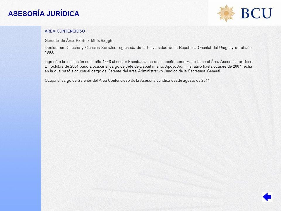 ASESORÍA JURÍDICA AREA CONTENCIOSO