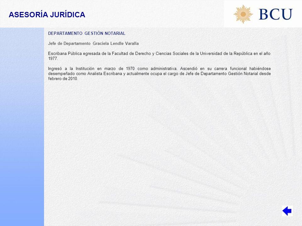 ASESORÍA JURÍDICA DEPARTAMENTO GESTIÓN NOTARIAL