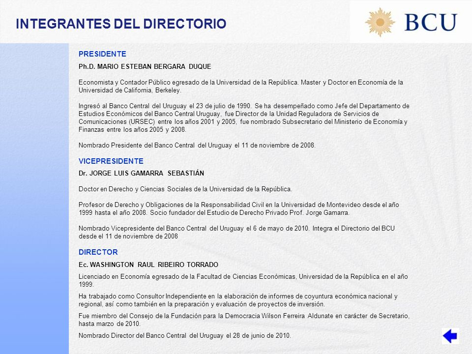 INTEGRANTES DEL DIRECTORIO