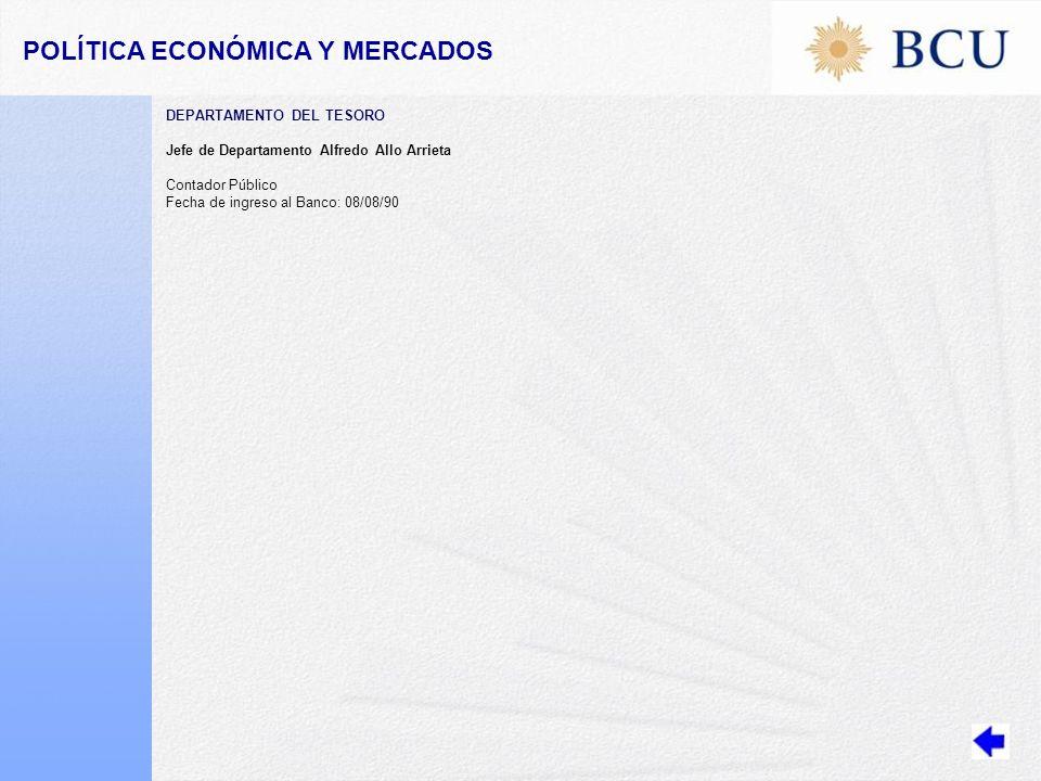 POLÍTICA ECONÓMICA Y MERCADOS