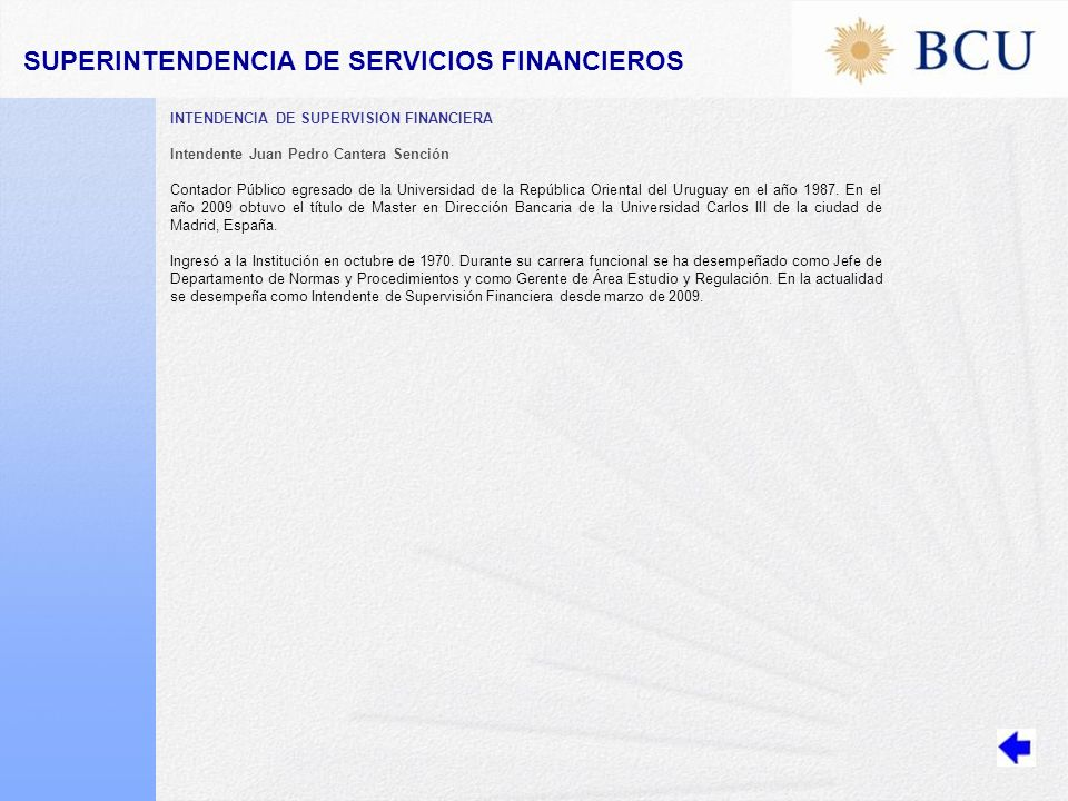 SUPERINTENDENCIA DE SERVICIOS FINANCIEROS