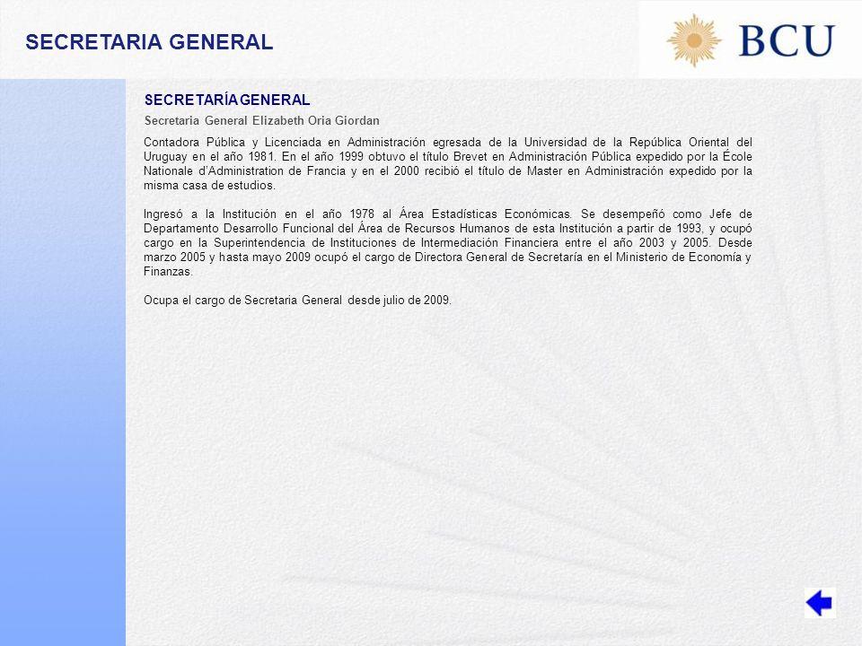 SECRETARIA GENERAL SECRETARÍA GENERAL