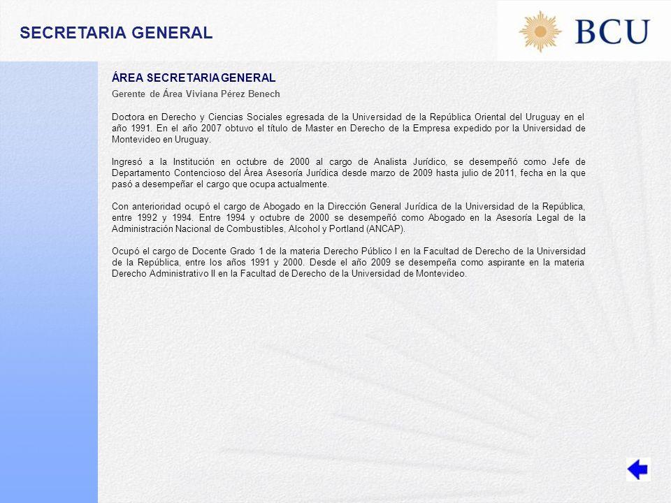 SECRETARIA GENERAL ÁREA SECRETARIA GENERAL
