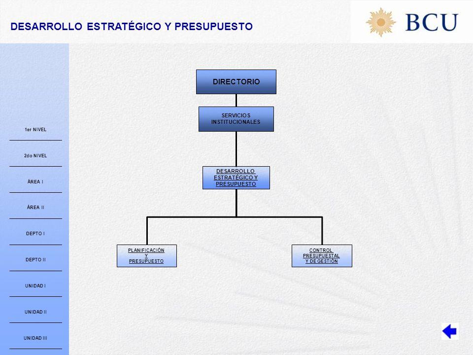 DESARROLLO ESTRATÉGICO Y PRESUPUESTO