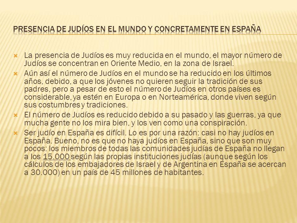 Presencia de judíos en el mundo y concretamente en España