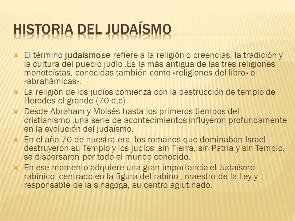 Historia del judaísmo