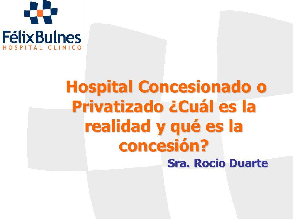 Hospital Concesionado o Privatizado ¿Cuál es la realidad y qué es la concesión