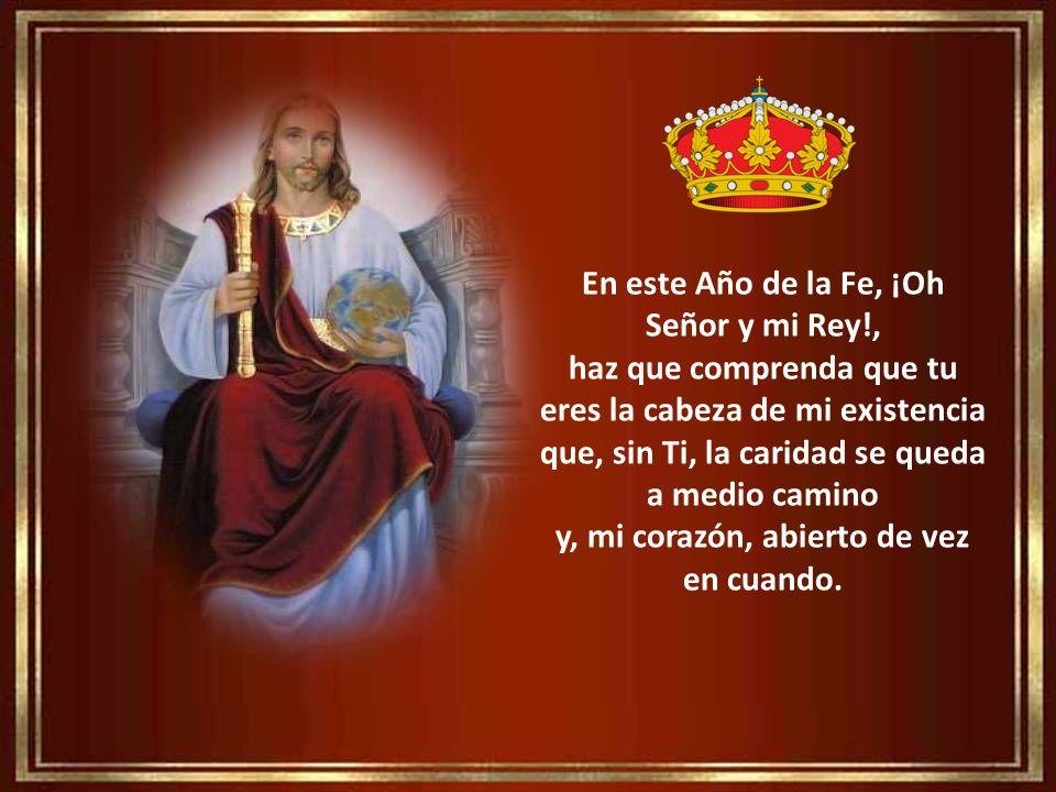 En este Año de la Fe, ¡Oh Señor y mi Rey!,