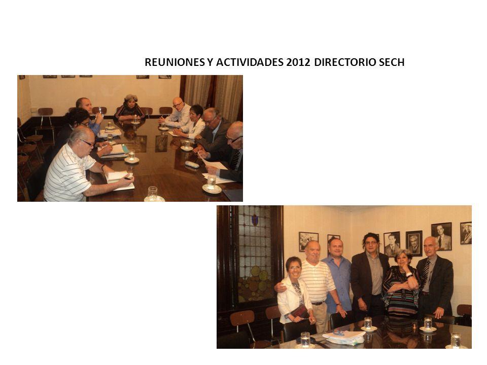 REUNIONES Y ACTIVIDADES 2012 DIRECTORIO SECH