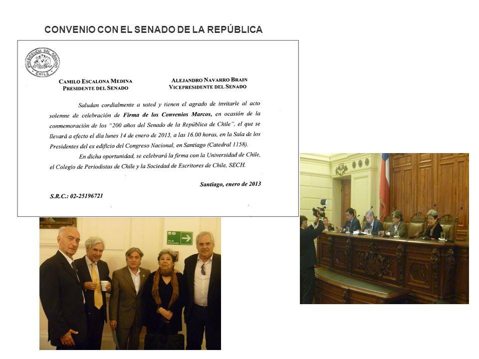 CONVENIO CON EL SENADO DE LA REPÚBLICA