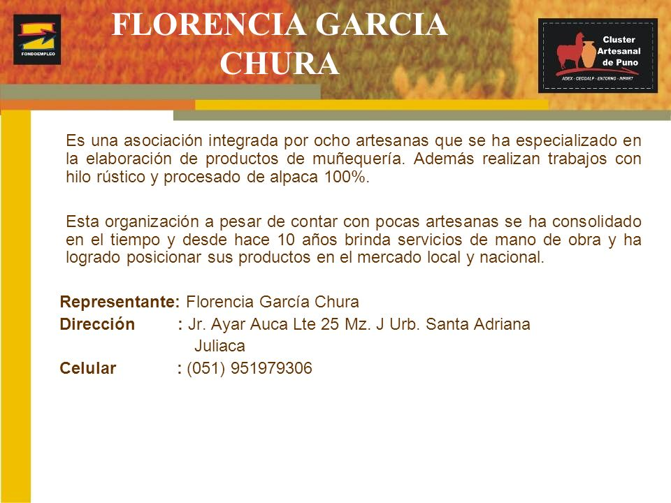 FLORENCIA GARCIA CHURA