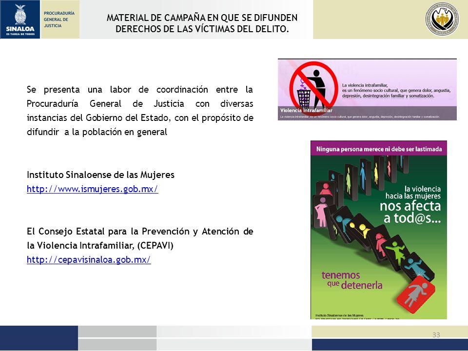 MATERIAL DE CAMPAÑA EN QUE SE DIFUNDEN DERECHOS DE LAS VÍCTIMAS DEL DELITO.