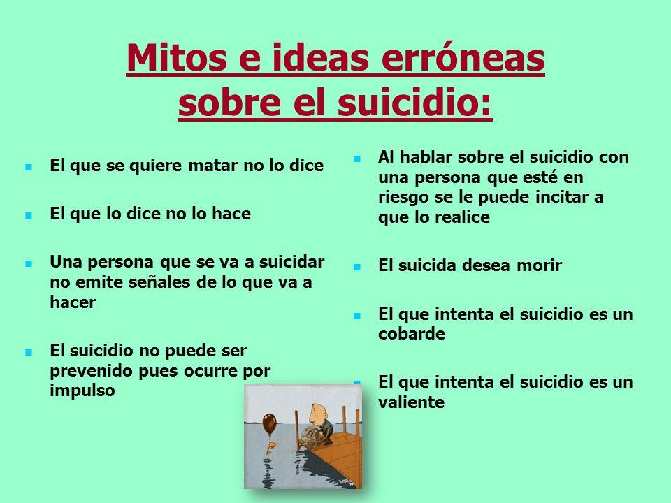 Mitos e ideas erróneas sobre el suicidio: