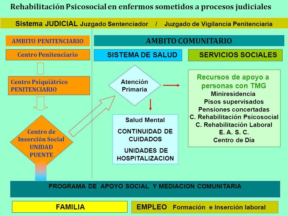 Rehabilitación Psicosocial en enfermos sometidos a procesos judiciales