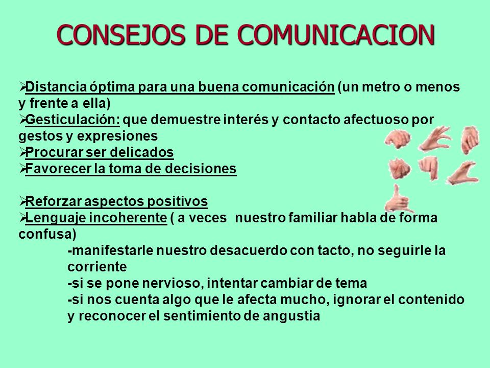 CONSEJOS DE COMUNICACION