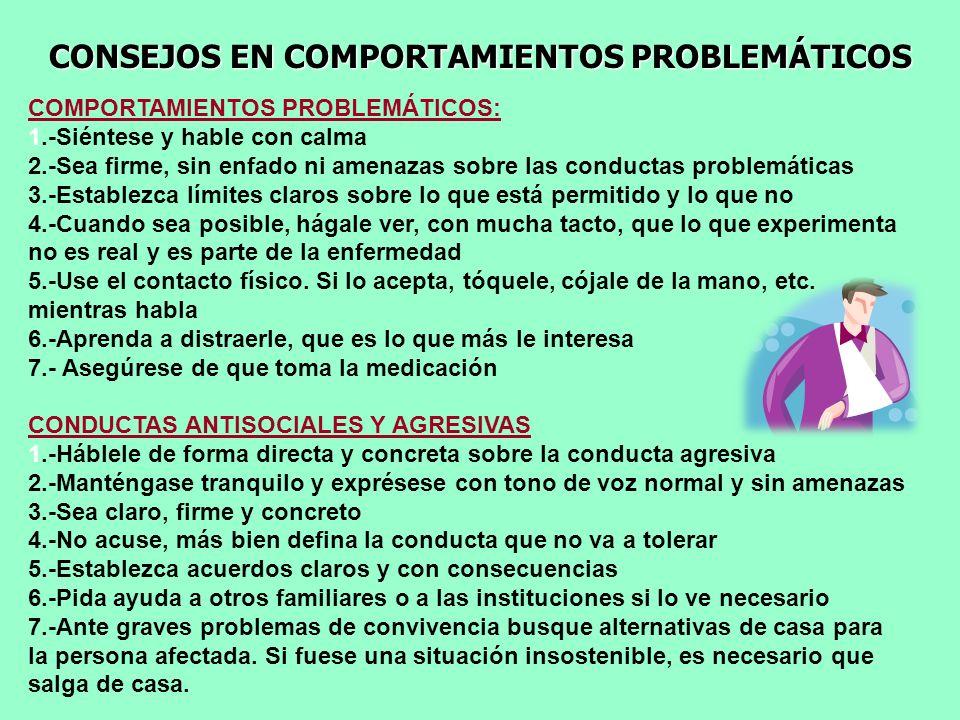 CONSEJOS EN COMPORTAMIENTOS PROBLEMÁTICOS