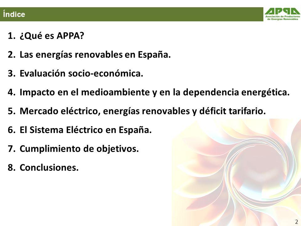 Las energías renovables en España. Evaluación socio-económica.