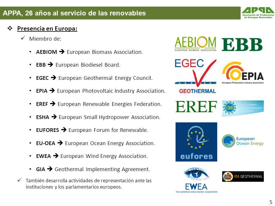 APPA, 26 años al servicio de las renovables