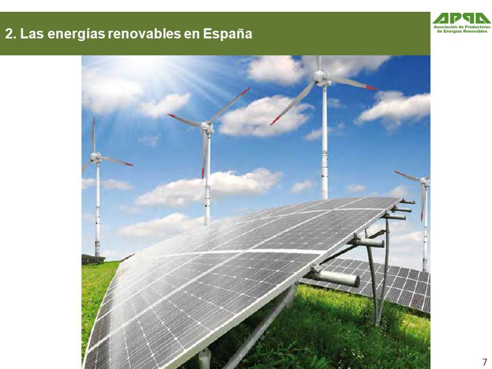 2. Las energías renovables en España