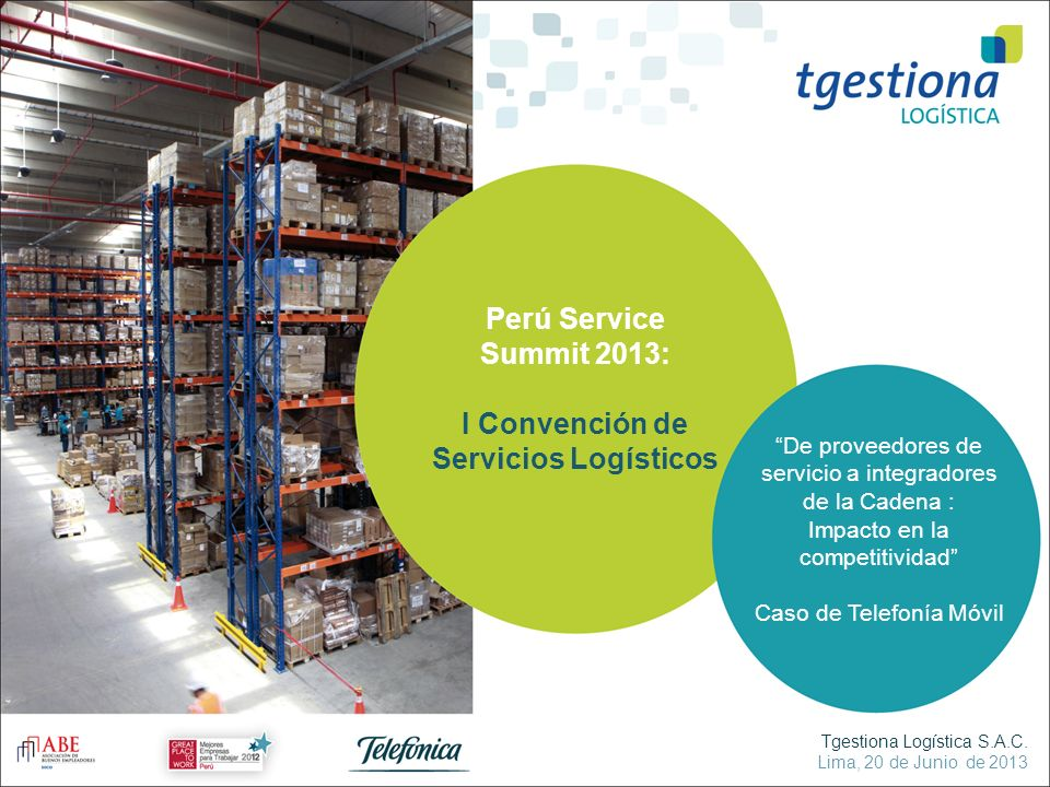 I Convención de Servicios Logísticos