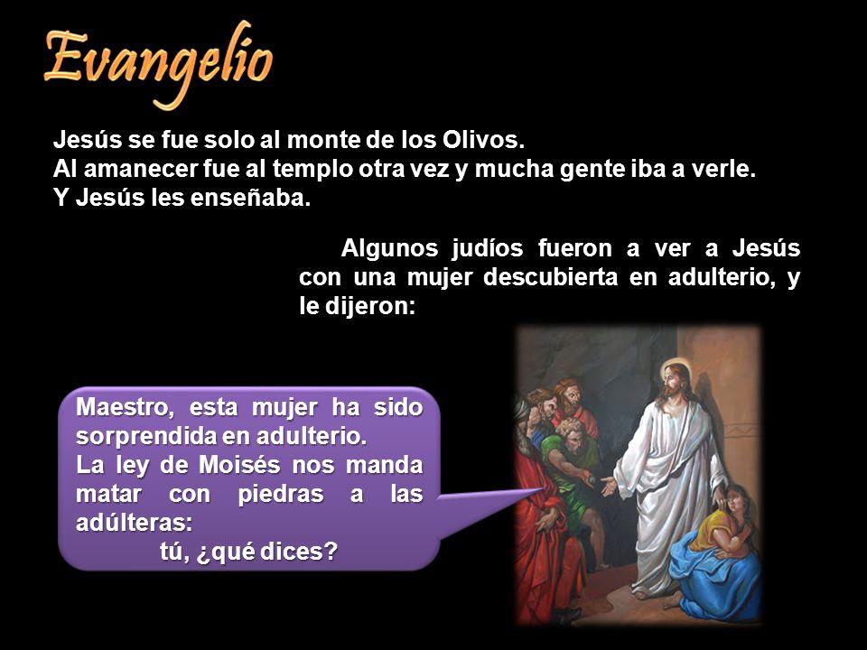 Evangelio Jesús se fue solo al monte de los Olivos.