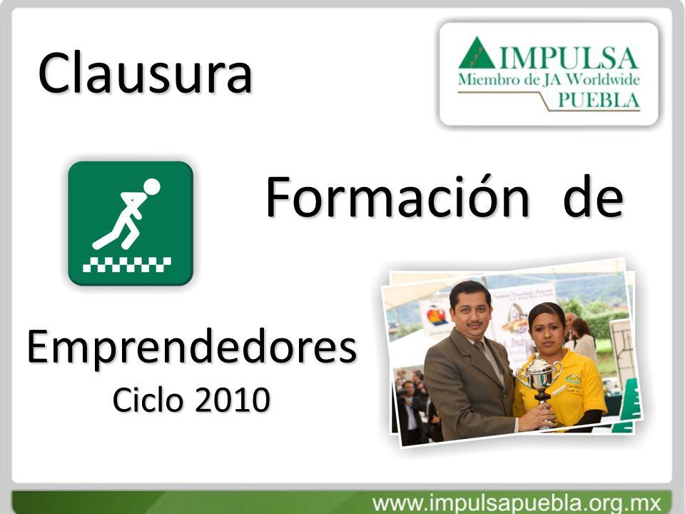 Clausura Formación de Emprendedores Ciclo 2010