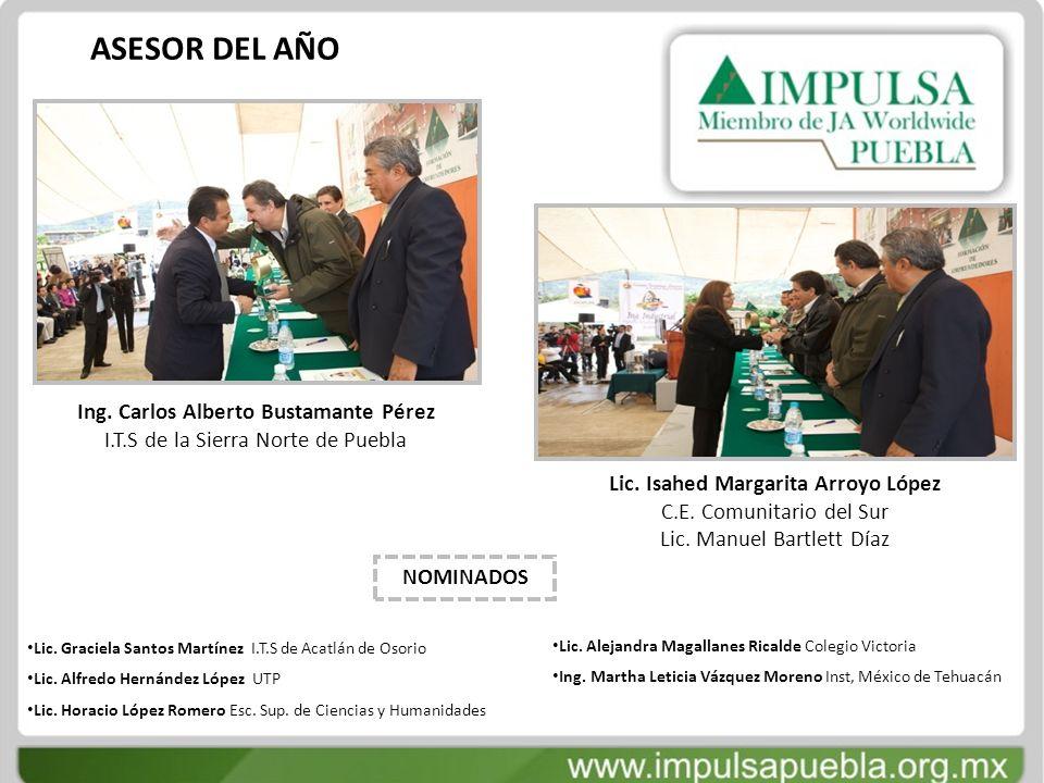 ASESOR DEL AÑO Ing. Carlos Alberto Bustamante Pérez