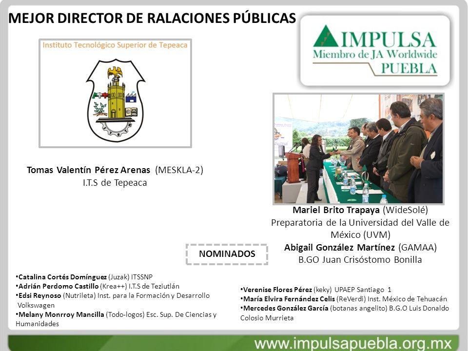 MEJOR DIRECTOR DE RALACIONES PÚBLICAS