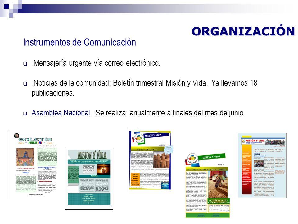 ORGANIZACIÓN Instrumentos de Comunicación