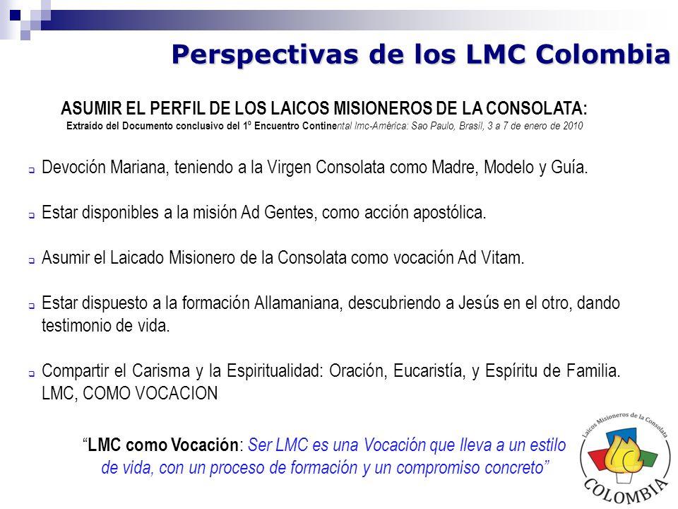 ASUMIR EL PERFIL DE LOS LAICOS MISIONEROS DE LA CONSOLATA: