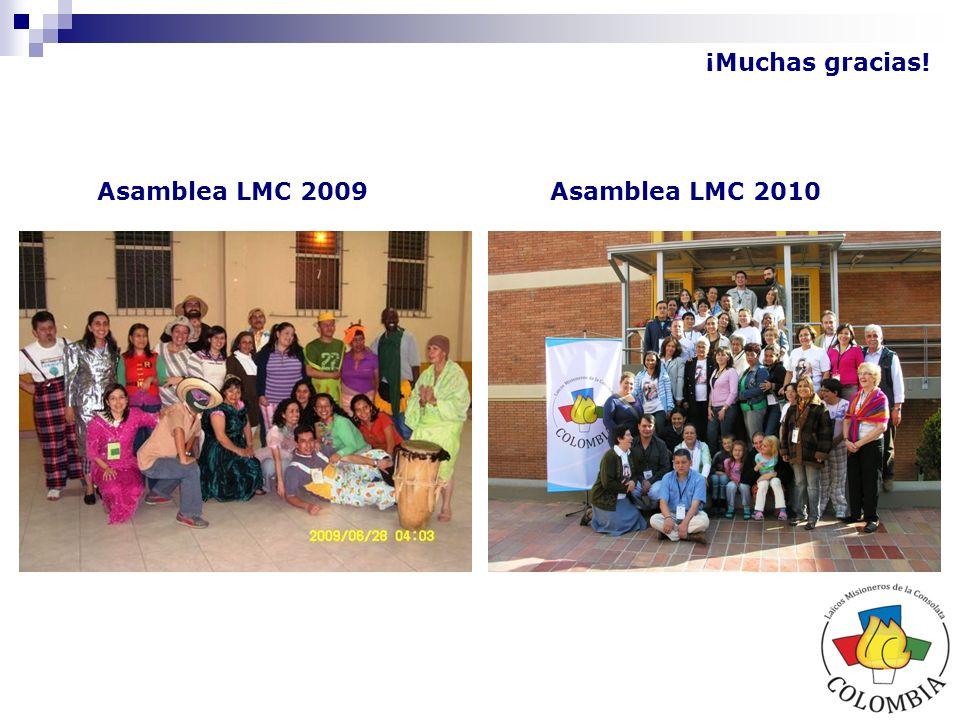 ¡Muchas gracias! Asamblea LMC 2009 Asamblea LMC 2010