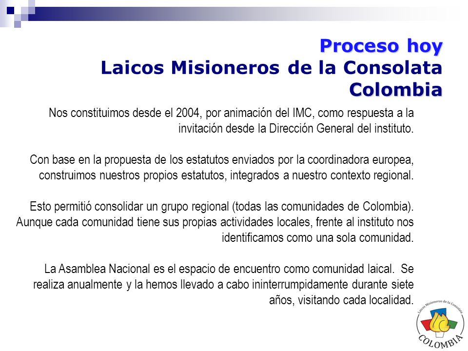 Laicos Misioneros de la Consolata Colombia