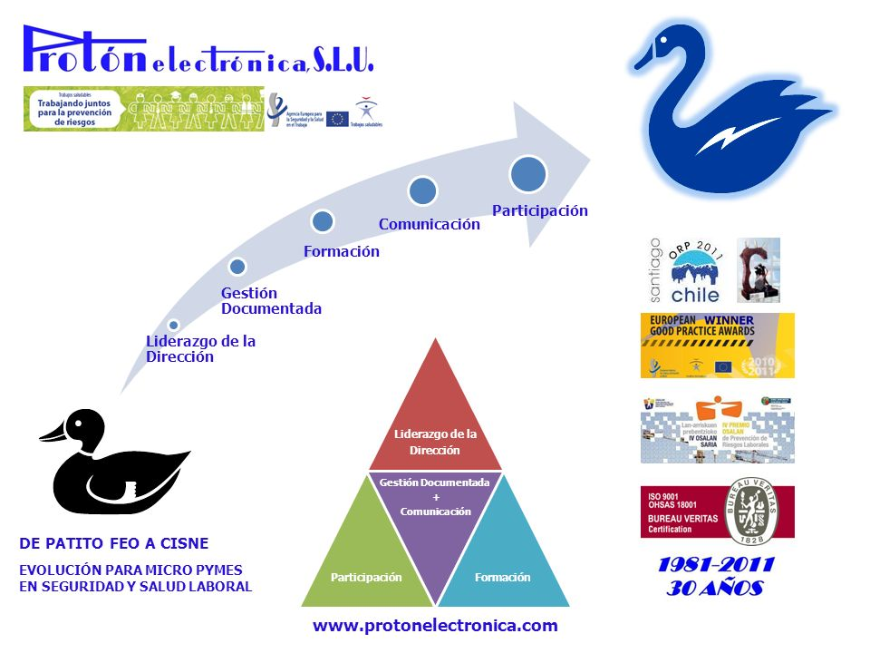 www.protonelectronica.com DE PATITO FEO A CISNE Participación
