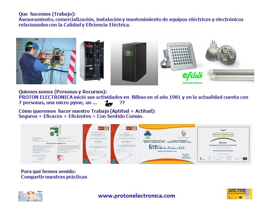 www.protonelectronica.com Quienes somos (Personas y Recursos):