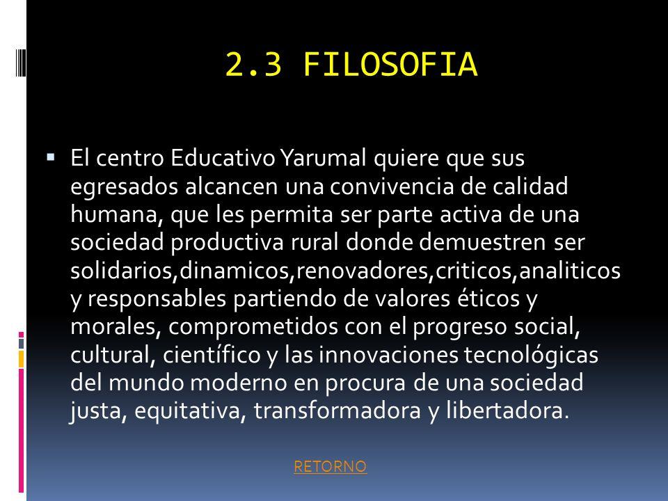2.3 FILOSOFIA