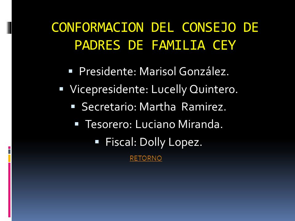 CONFORMACION DEL CONSEJO DE PADRES DE FAMILIA CEY